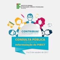 Aberta para consulta pública minuta do Regulamento do Pibict