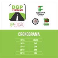 DGP Itinerante começa na próxima segunda-feira, dia 12