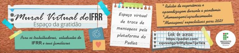 MURAL DO IFRR - ESPAÇO DA GRATIDÃO