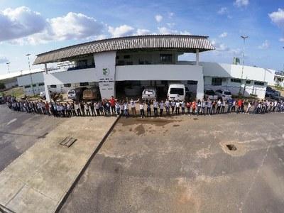 O Campus Amajari também se mobilizou pela causa. O ato ocorreu nos dois turnos.
