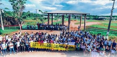 No Campus Novo Paraíso, o ato foi realizado em dois momentos, para que comunidade acadêmica pudesse participar