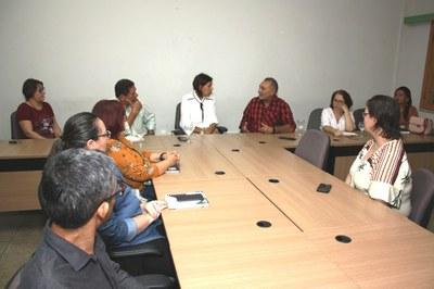 Reunião com Senador Telmário contou com a presença também de Pró-reitores e Diretores dos campi