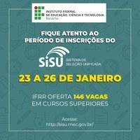 IFRR oferta 146 vagas para nível superior pelo Sisu