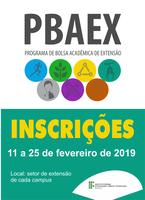 Inscrições no Pbaex podem ser feitas de 11 a 25 de fevereiro